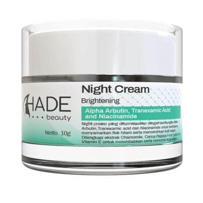 Hade Beauty night cream brightening
